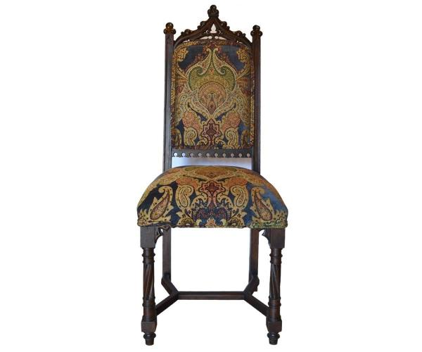 Antique Gothic Style Dining Table With Eight Chairs