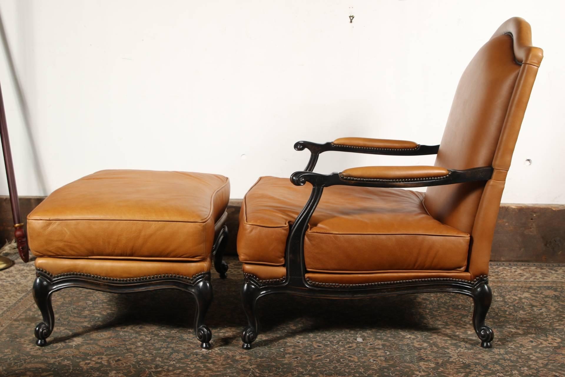 french bergere chair and ottoman small leather chairs large upholstered bergère at 1stdibs