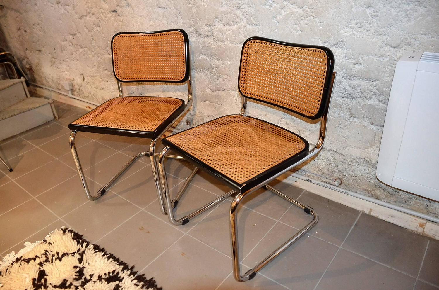 marcel breuer chair original wedding covers for armchairs vintage set of cesca chairs