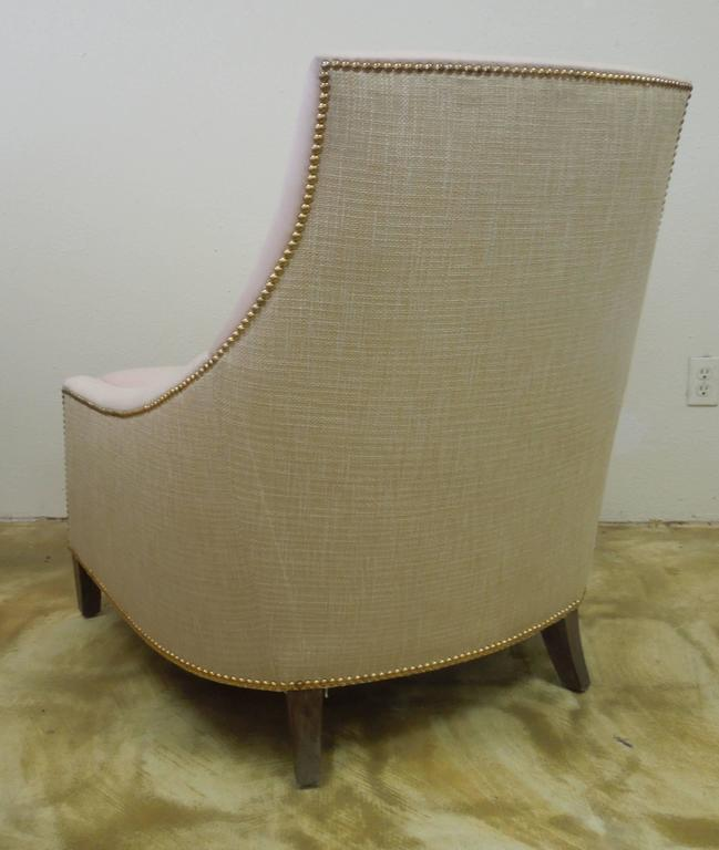 custom sofa maker los angeles timber slat bed contemporary glam pink and tan linen