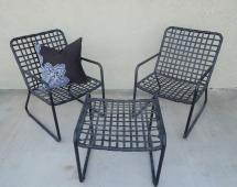 Vintage Four-piece Set Of Brown Jordan Patio Furniture