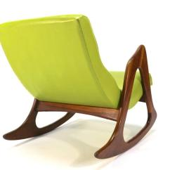 Adrian Pearsall Rocking Chair Metal Leg Floor Protectors 812 Cr For Sale At 1stdibs