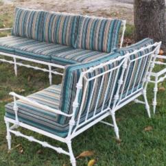 Metal Garden Sofa Sets Small Corner Units 4 Pc Phyllis Morris Patio Set Sette Coffee And End