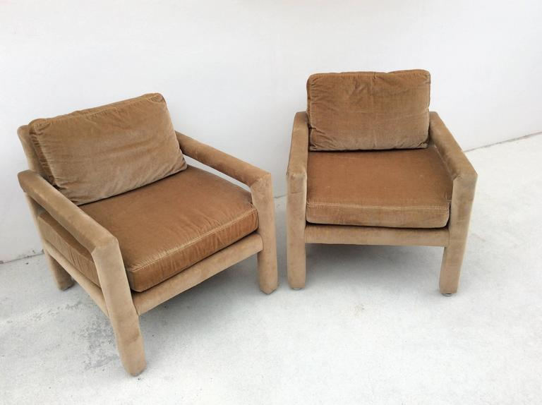 drexel heritage chairs desk chair or stool parsons arm lounge club camel velvet vintage lovely pair of armchairs in a beautiful
