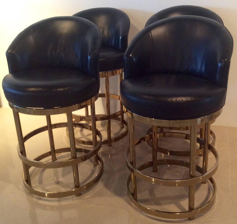 4 stool kitchen island tiffany lighting brass swivel counter bar stools vintage set