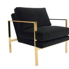 Black Velvet Chair Extra Wide Rocking With Brass Finished Frame For Sale At