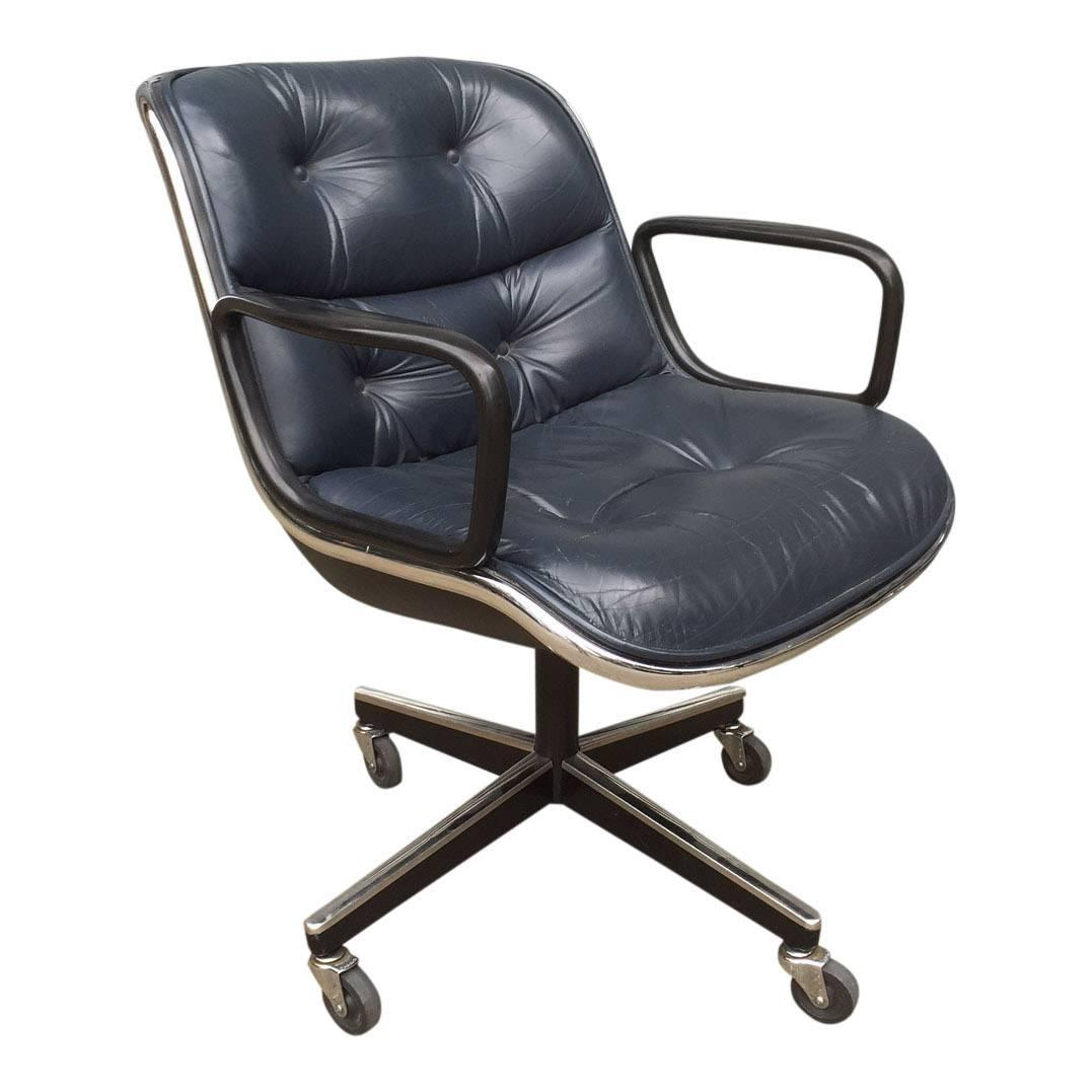 Knoll Pollock Chair Charles Pollock For Knoll Black Leather Office Chairs Ten