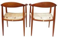 Mid-Century Hans J. Wegner Round Chair in Teak at 1stdibs