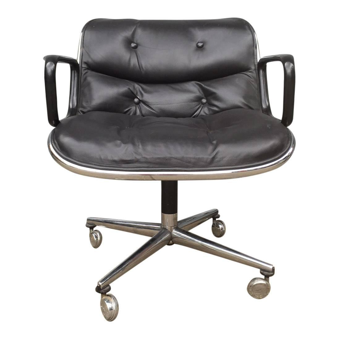 Knoll Pollock Chair Early Charles Pollock For Knoll Office Chair At 1stdibs