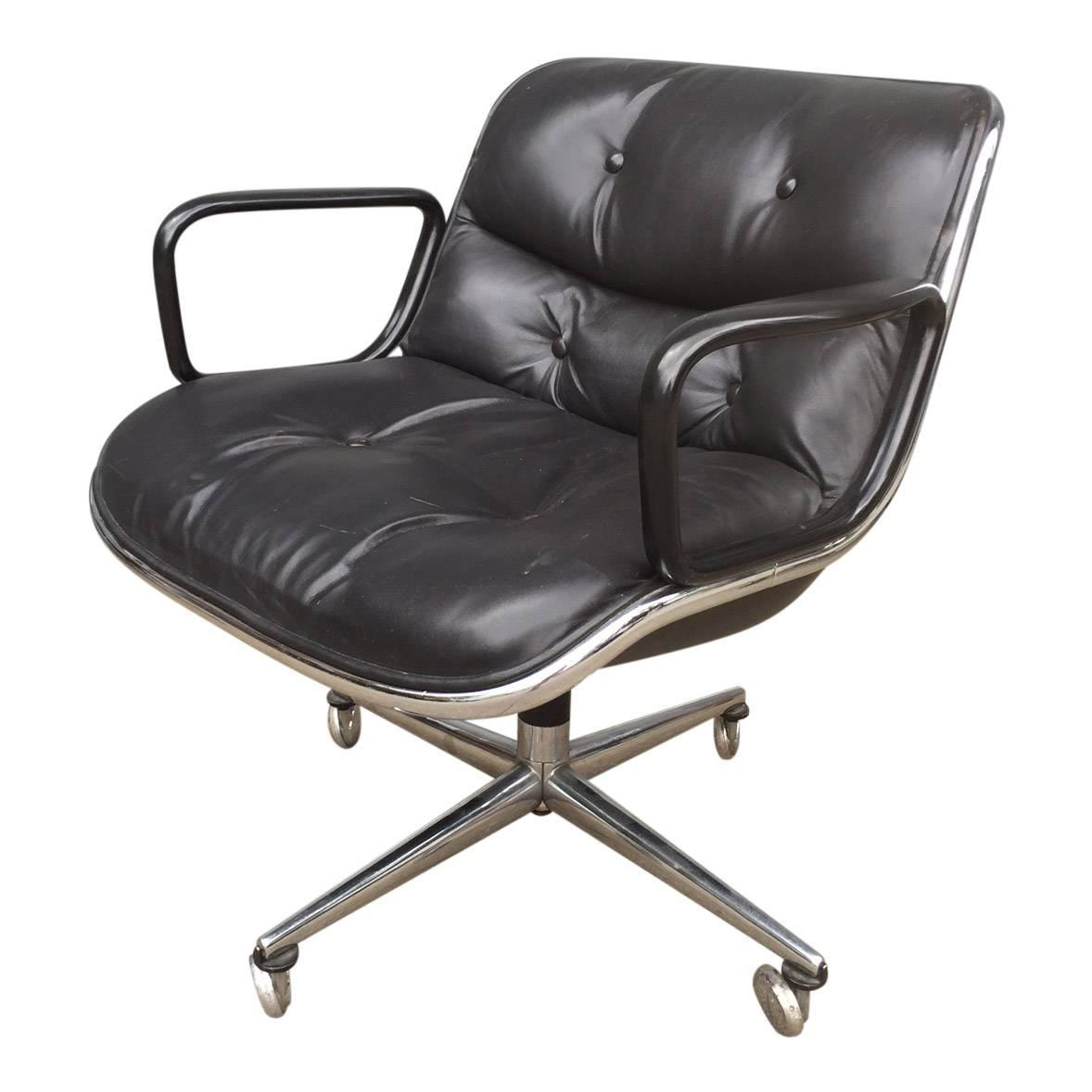 pollock executive chair replica world market leather early charles for knoll office at 1stdibs
