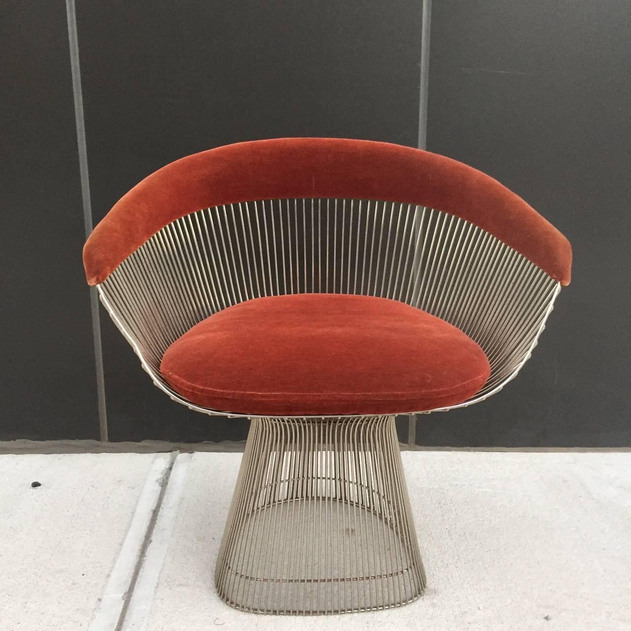 mid century modern wire chair desk ballard warren platner for knoll accent