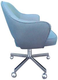 Early Mid-Century Saarinen Chairs for Knoll on Chrome Base ...