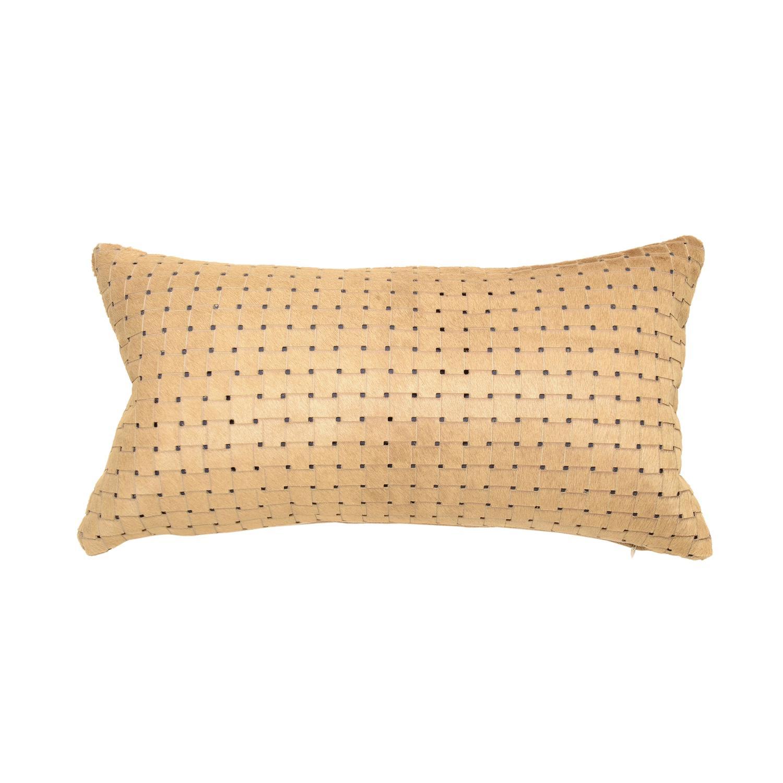cowhide sofa throws wood and metal table contemporary beige tan laser cut hair lumbar