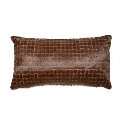 Cowhide Sofa Throws Mah Jong Modular By Roche Bobois Contemporary Chocolate Brown Laser Cut Hair Lumbar