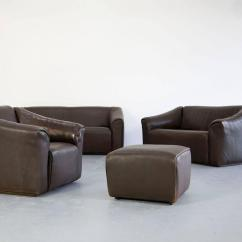 Buffalo Leather Chair Retro Wire Chairs Lounge Ottoman And 2 Sofas Ds 47 By