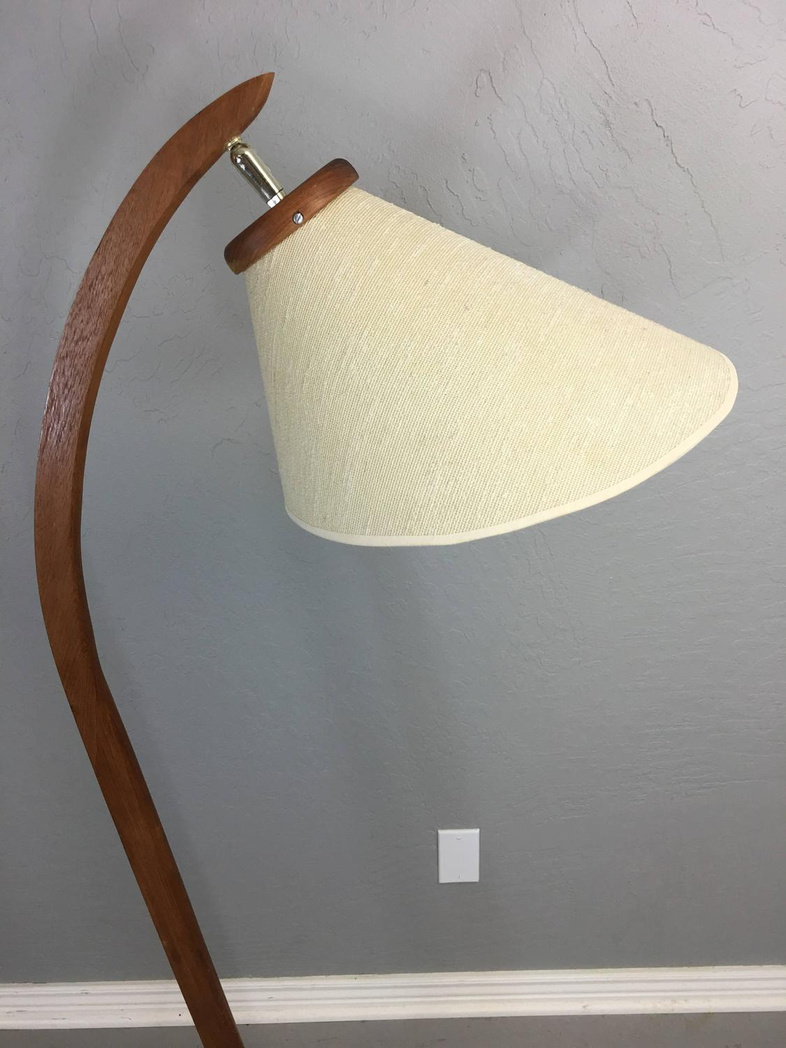 Danish Inspired Teak Floor Lamp circa 1960 MidCentury