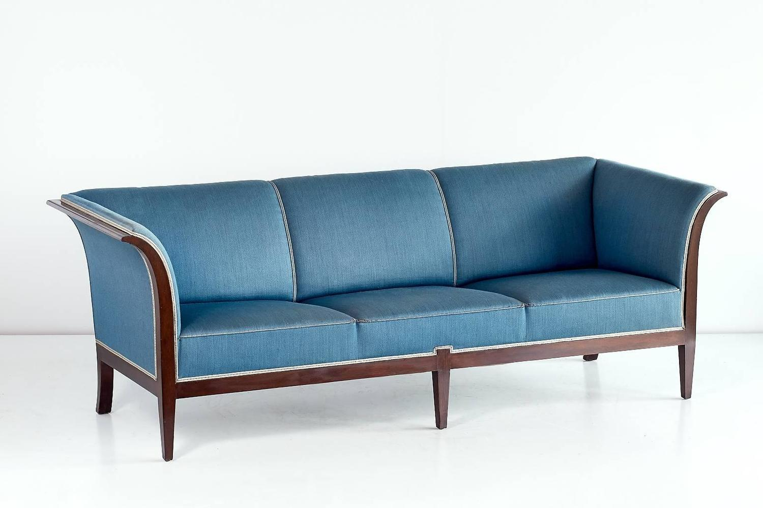 a sofa in the forties leather with pull out bed frits henningsen mahogany 1940s for sale at 1stdibs