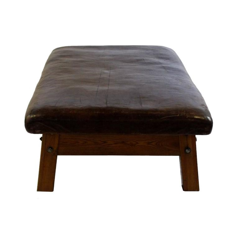 Rare Leather Gym Table Manufactured By Adam In The 1920s