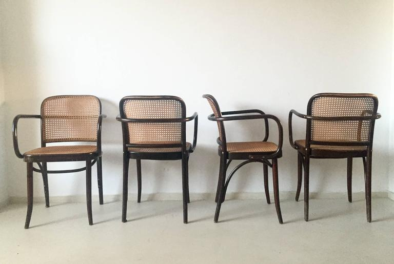 bentwood cane seat chairs chair cover patterns josef hoffman and prague set of four this beautiful is designed by produced in czechoslovakia
