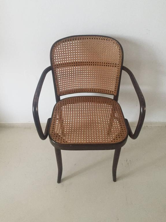 bentwood cane seat chairs chair and ottomon josef hoffman, ''prague'' chairs, set of four, 1960s at 1stdibs