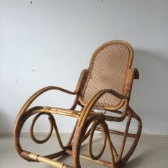 Old Fashioned Rocking Chairs Wicker Outdoor Chair Vintage Bamboo 1960s For Sale At 1stdibs