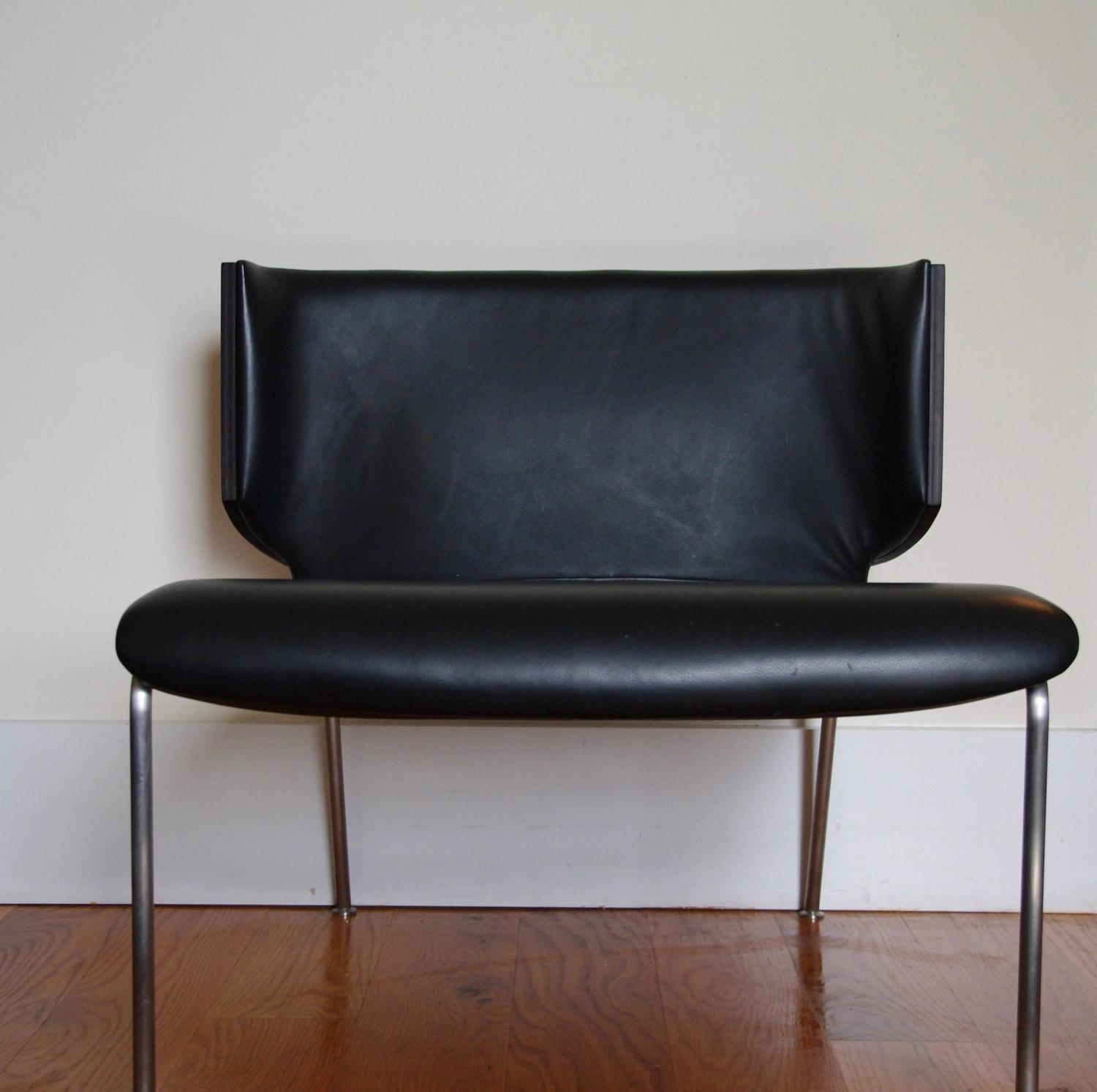 modern armchair design ikea junior chair italian black leather and wenge wood