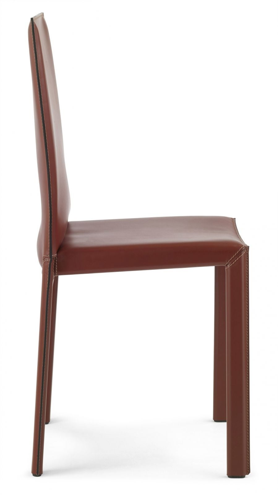 leather chair modern kneeling office italian dining chairs with high back made in italy for sale at 1stdibs