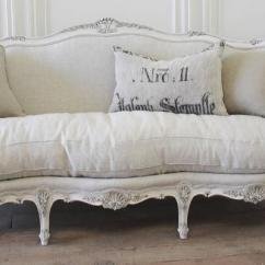 Belgian Linen Sofa Flexsteel Thornton Sleeper Antique Painted French In The Louis Xv Style Upholstered Beautiful With Carved Flowers And Shell Motifs Our Signature Oyster White