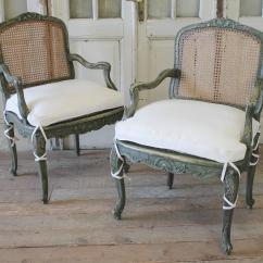 Cane Chairs For Sale Patio Chair Feet Replacements 19th Century Pair Of Painted At 1stdibs