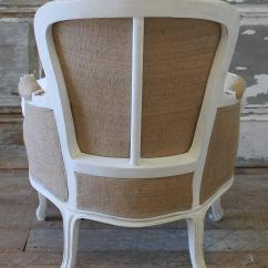 Country Chair Pads Wooden Office No Wheels Vintage Carved French Style With Linen Slip