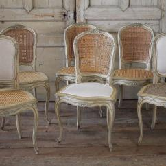 Antique Cane Dining Room Chairs Modern White Leather Office Chair 19th Century Louis Xv French