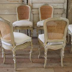 Antique Cane Dining Room Chairs Bamboo Directors Australia 19th Century Louis Xv French