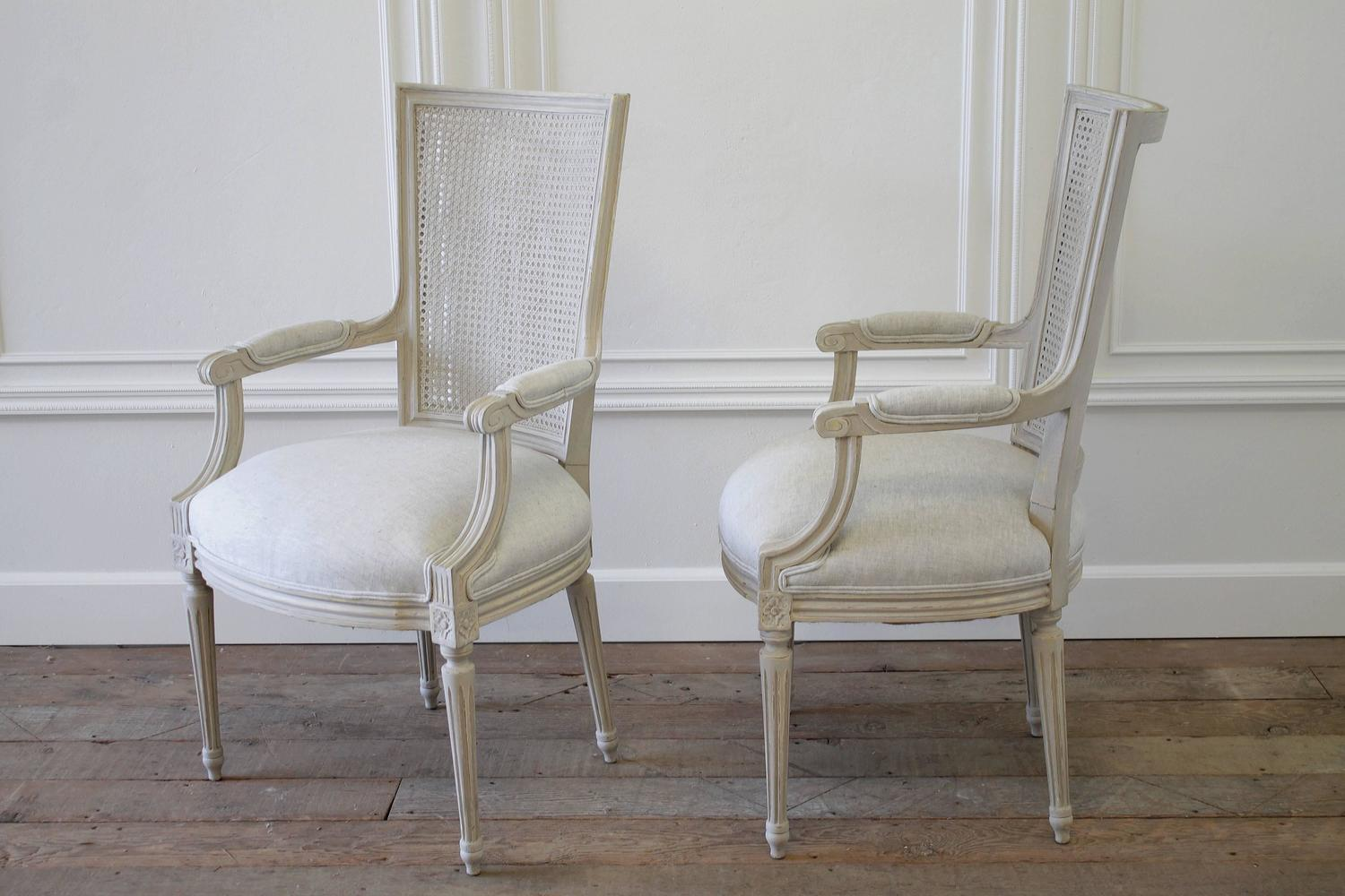 antique cane dining room chairs old wooden rocking chair set of 11 painted louis xvi style and