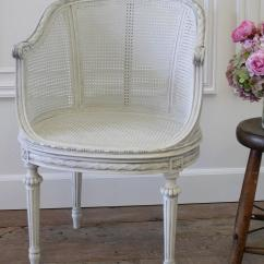 French Barrel Chair Handicap Toilet Antique Louis Xvi Painted Cane With