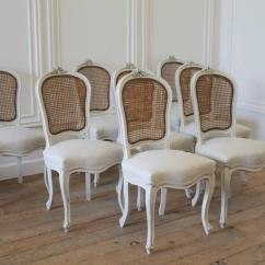 Cane Back Chairs For Sale Folding High Set Of Eight Vintage French Painted Dining At 1stdibs Louis Xv