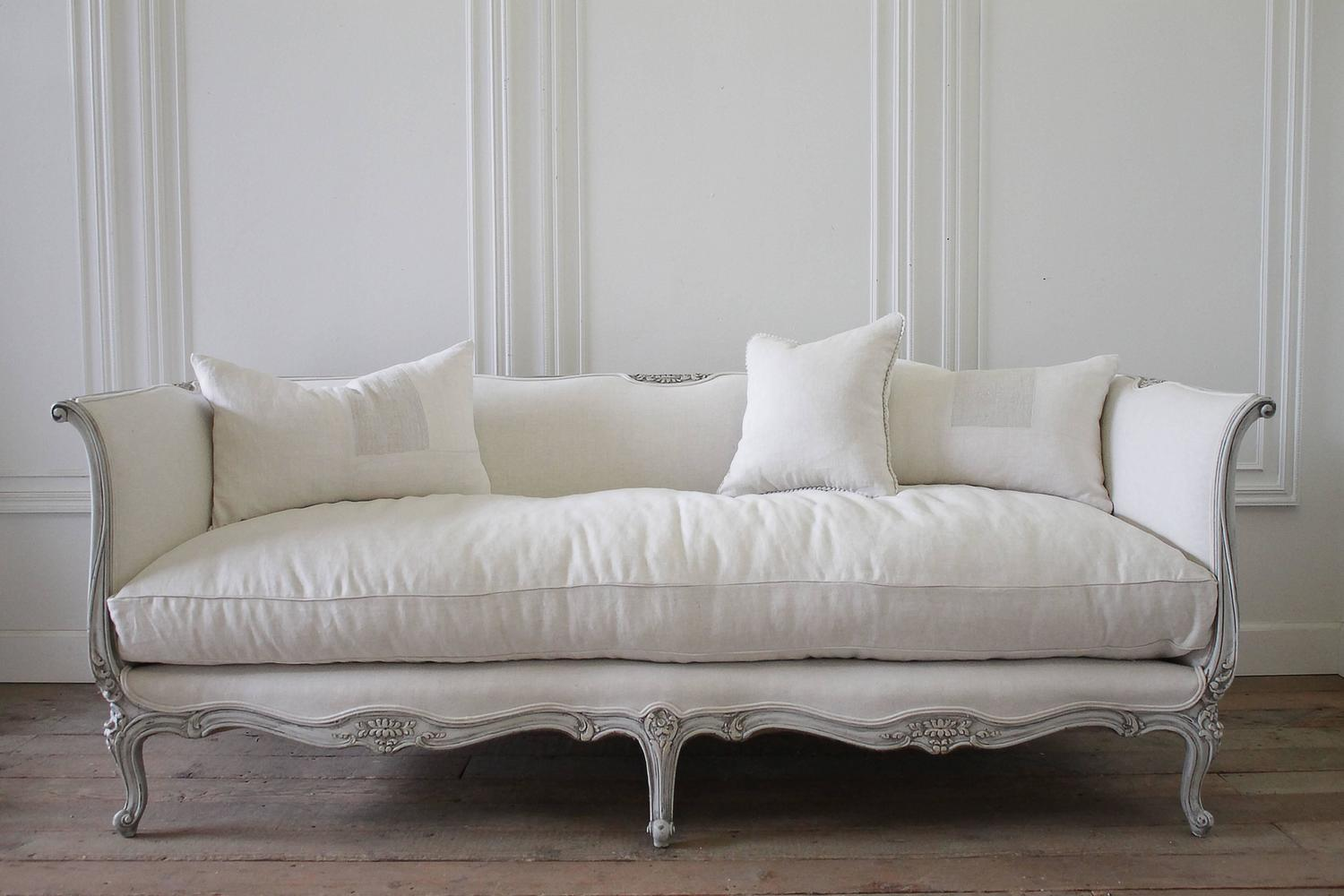 french style sofas for sale how to clean a sofa with dog 20th century louis xv daybed upholstered