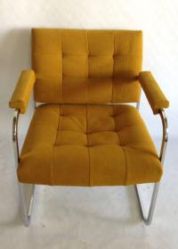Pair 1970'S Chrome Upholstered Chairs By, Patrician ...
