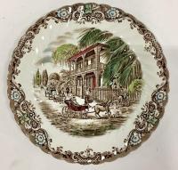 """English Ironstone Dinnerware Set of Nine, """"French ..."""