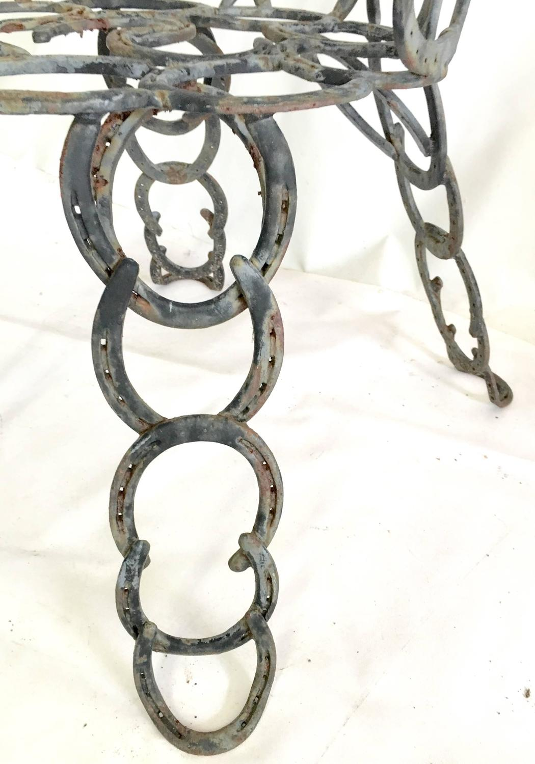 Iron Horse Chairs Pair Of Vintage Sculptural Cast Iron Horseshoe Chairs At