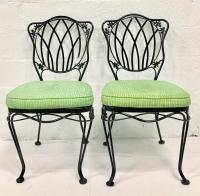 1950'S Set of 5 Wrought Iron Mesh Chairs and Cushions by ...