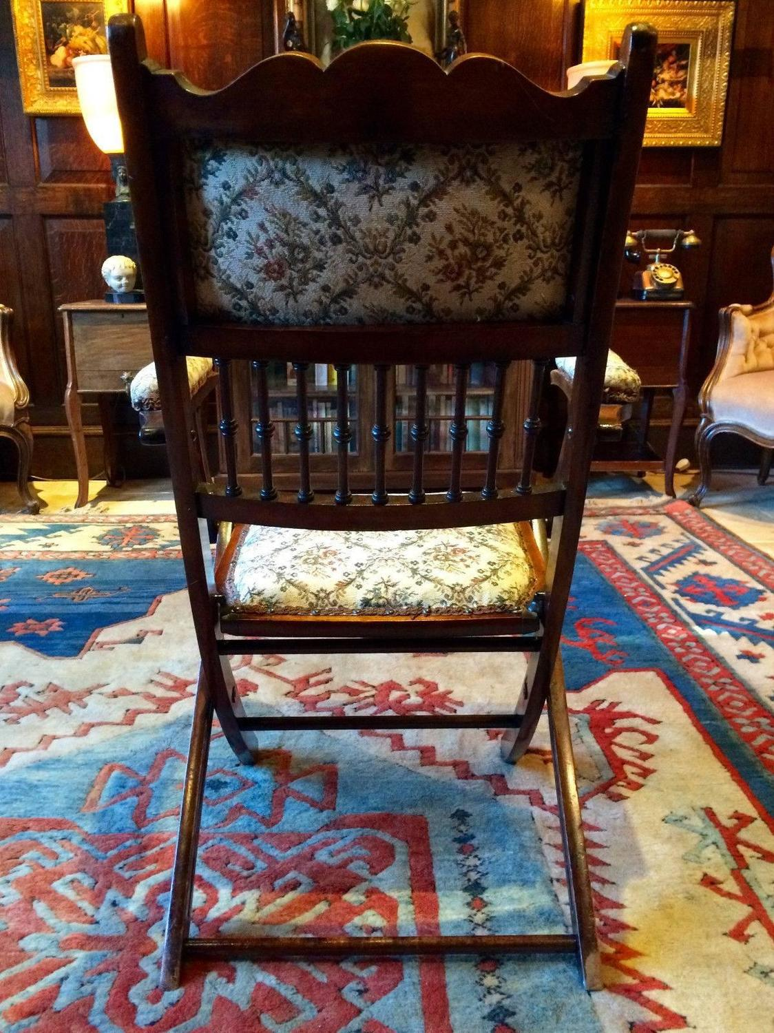 zephyr desk chair high ikea antique edwardian stained beech folding 19th century at 1stdibs