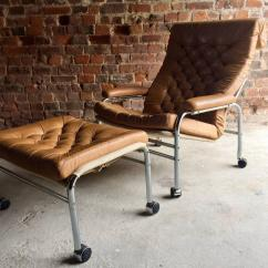 Ikea Lounge Chair Single Bed Noboru Nakamura For Bore And Footstool Leather Mid Century Modern 1970s Very
