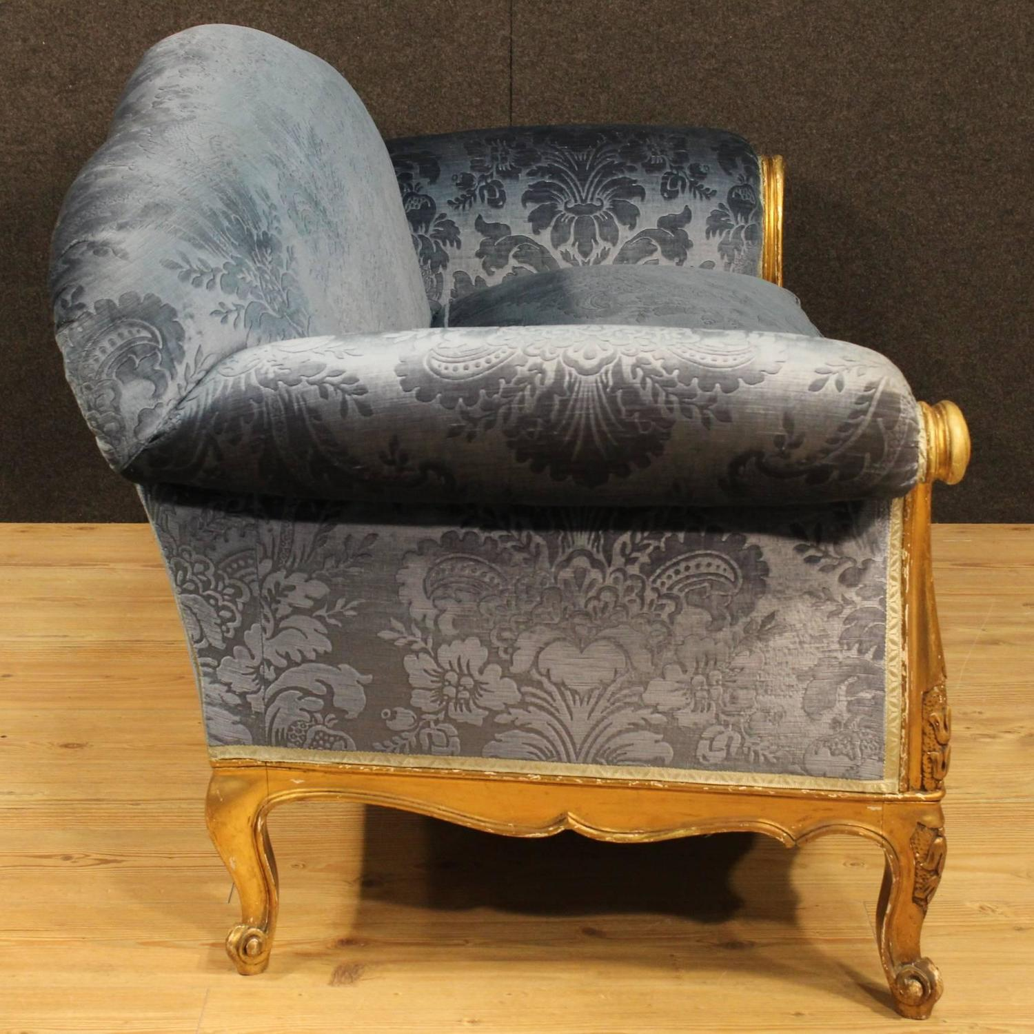 french velvet chair wheelchair on sale sofa in blue for at 1stdibs