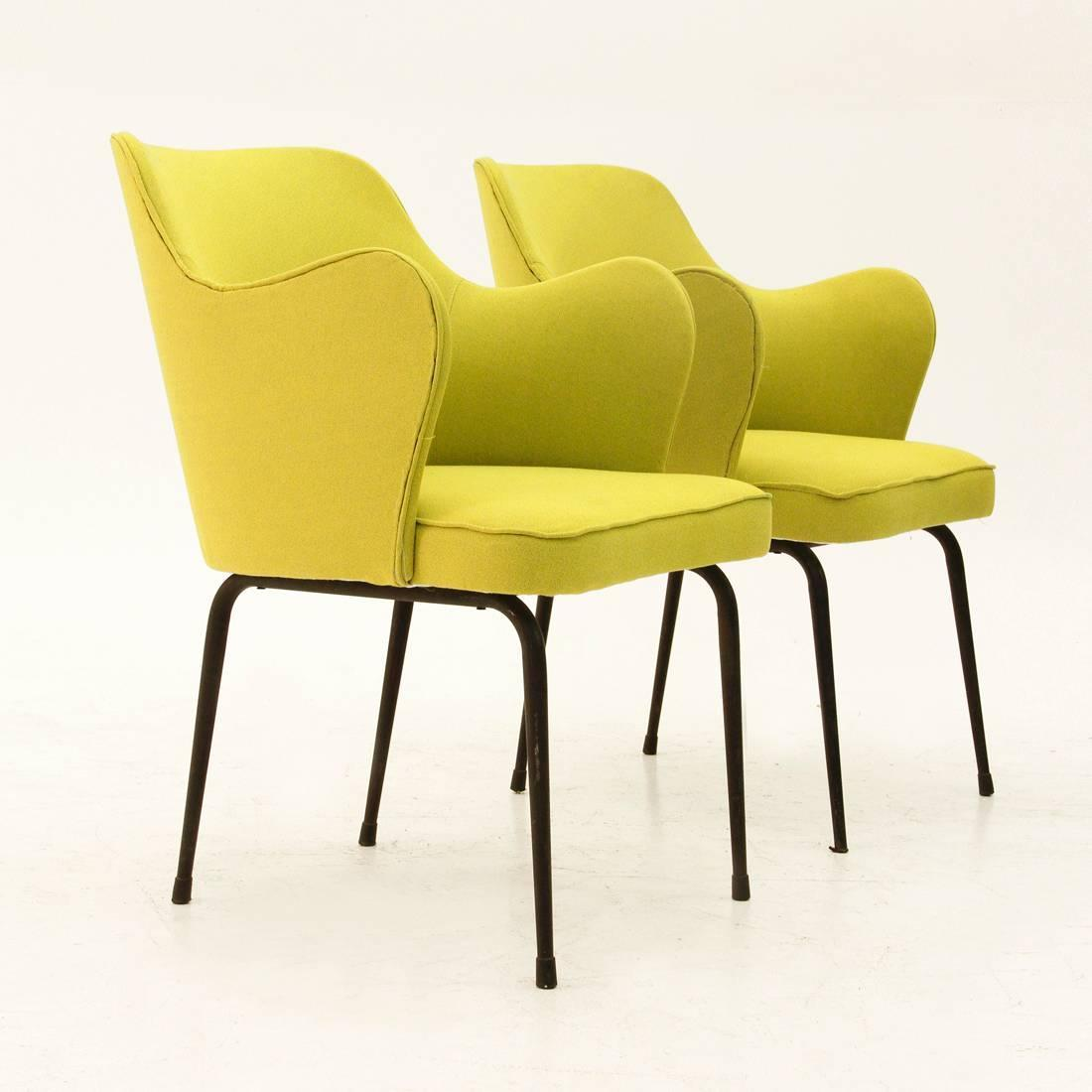 lime green chairs for sale with rollers italian armchairs 1950s set of two