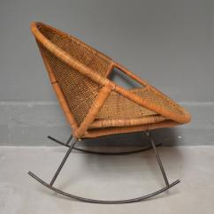 Iron Rocking Chair Lounge For Kids Rattan And At 1stdibs