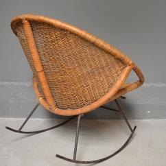 Iron Rocking Chair Ijoy Massage Chairs Rattan And At 1stdibs