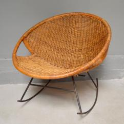 Iron Rocking Chair Revolving At Cheapest Rate Rattan And 1stdibs