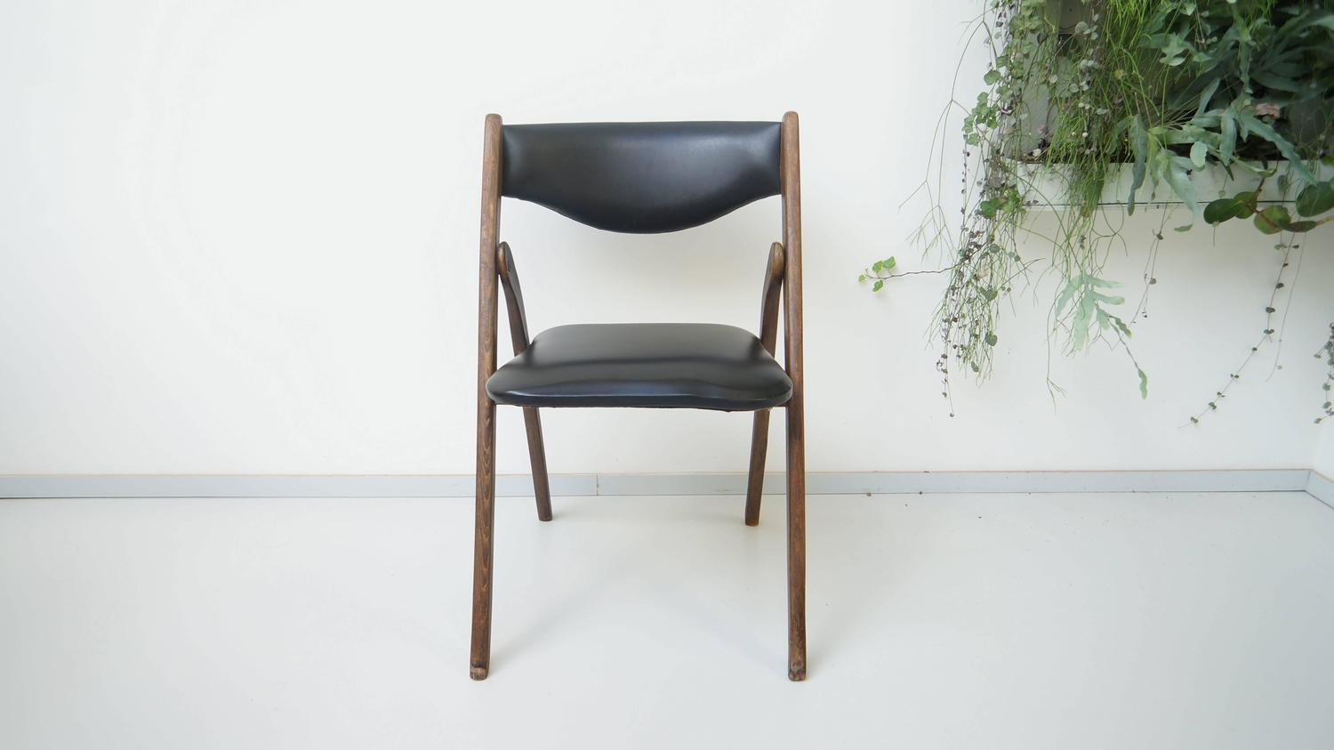 modern folding chair leather gaming chairs uk mid century allan gould 1950s at
