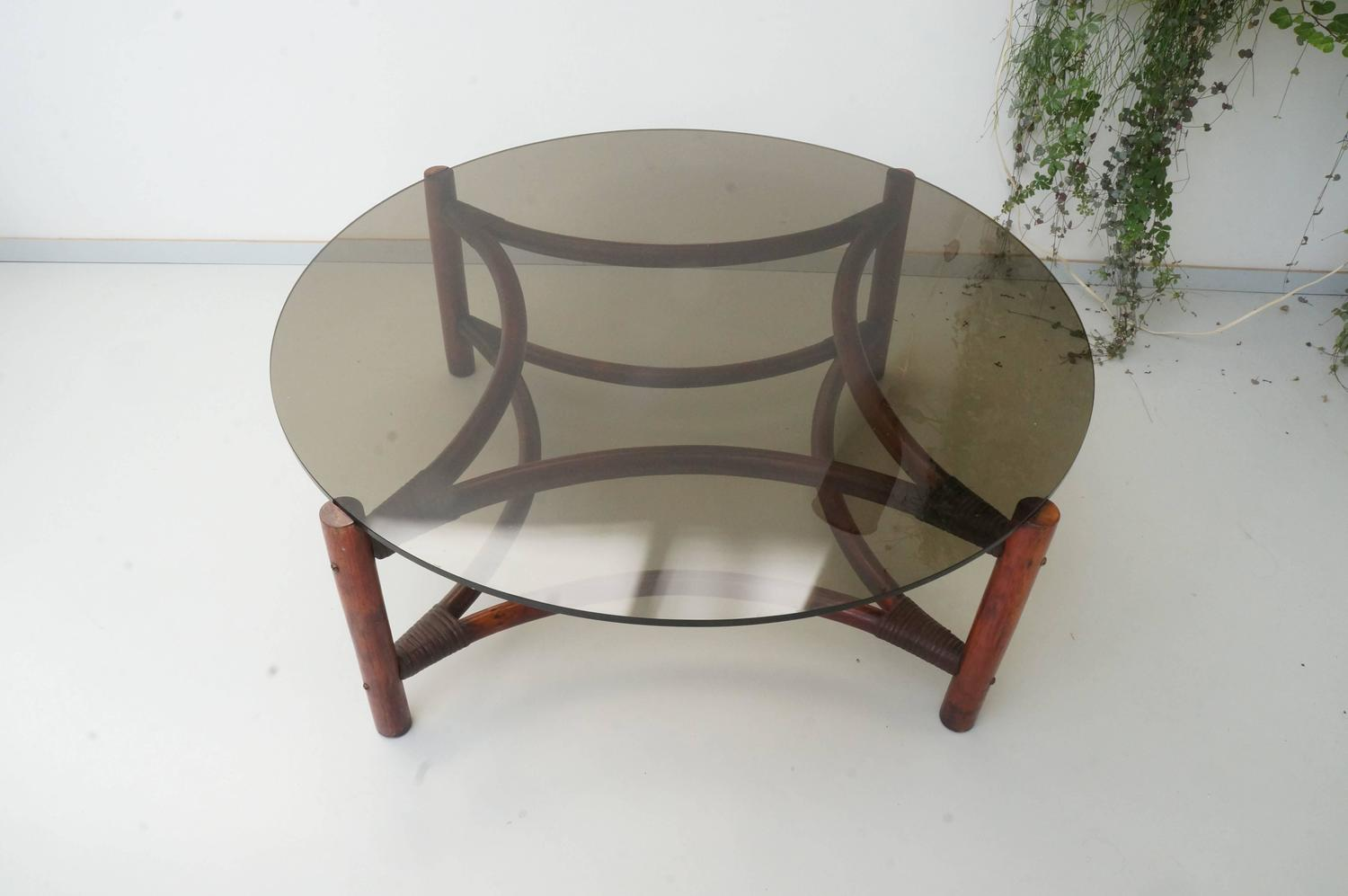 big round bamboo chair beach umbrella for vintage mid century rattan smoked glass large