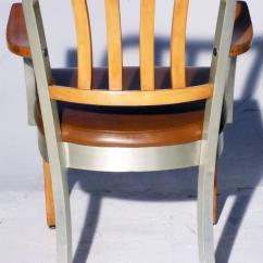 Shaw Walker Chair Brown Desk Original Us Model 8312 Armchair For Sale